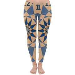 Stellated Regular Dodecagons Center Clock Face Number Star Classic Winter Leggings