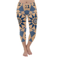 Stellated Regular Dodecagons Center Clock Face Number Star Capri Winter Leggings  by Alisyart