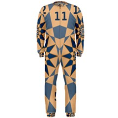 Stellated Regular Dodecagons Center Clock Face Number Star Onepiece Jumpsuit (men)  by Alisyart