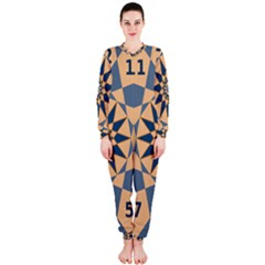 Stellated Regular Dodecagons Center Clock Face Number Star Onepiece Jumpsuit (ladies)  by Alisyart