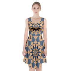 Stellated Regular Dodecagons Center Clock Face Number Star Racerback Midi Dress by Alisyart