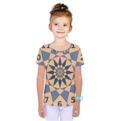 Stellated Regular Dodecagons Center Clock Face Number Star Kids  One Piece Tee by Alisyart