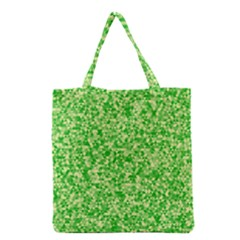 Specktre Triangle Green Grocery Tote Bag by Alisyart