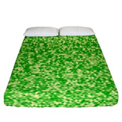 Specktre Triangle Green Fitted Sheet (california King Size)