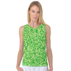 Specktre Triangle Green Women s Basketball Tank Top