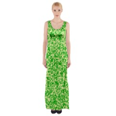 Specktre Triangle Green Maxi Thigh Split Dress by Alisyart