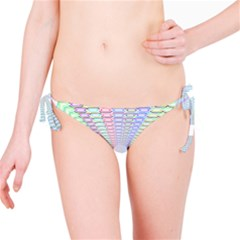 Tunnel With Bright Colors Rainbow Plaid Love Heart Triangle Bikini Bottom