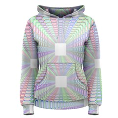 Tunnel With Bright Colors Rainbow Plaid Love Heart Triangle Women s Pullover Hoodie