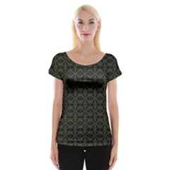 Dark Interlace Tribal  Women s Cap Sleeve Top by dflcprintsclothing