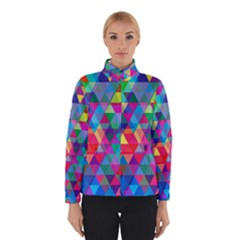 Colorful Abstract Triangle Shapes Background Winterwear by TastefulDesigns