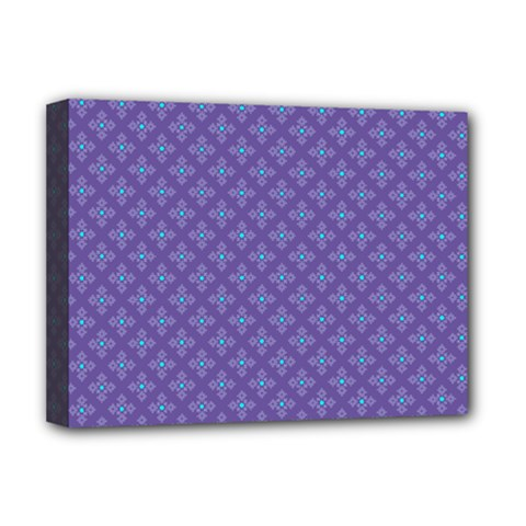 Abstract Purple Pattern Background Deluxe Canvas 16  X 12   by TastefulDesigns