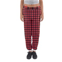Red Plaid Women s Jogger Sweatpants by PhotoNOLA