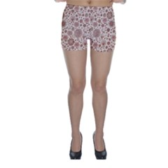 Retro Sketchy Floral Patterns Skinny Shorts by TastefulDesigns