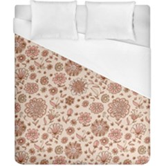 Retro Sketchy Floral Patterns Duvet Cover (california King Size) by TastefulDesigns