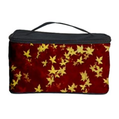 Background Design Leaves Pattern Cosmetic Storage Case by Simbadda