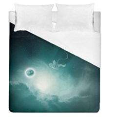 Astronaut Space Travel Gravity Duvet Cover (queen Size) by Simbadda