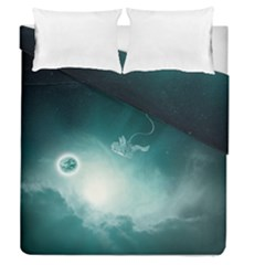 Astronaut Space Travel Gravity Duvet Cover Double Side (queen Size) by Simbadda