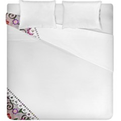 Floral Ornament Baby Girl Design Duvet Cover Double Side (king Size) by Simbadda