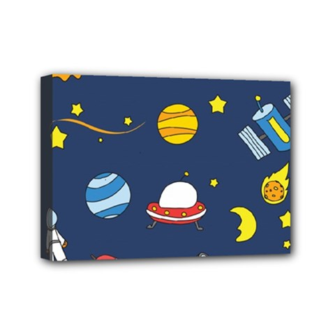 Space Background Design Mini Canvas 7  X 5  by Simbadda