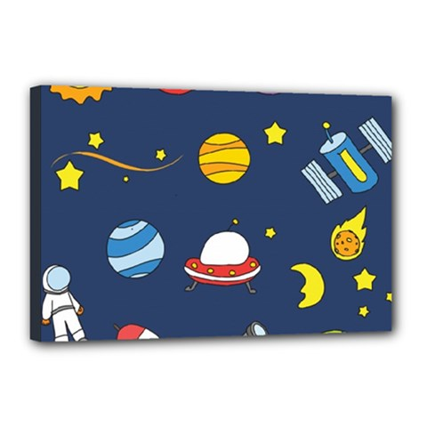 Space Background Design Canvas 18  X 12  by Simbadda