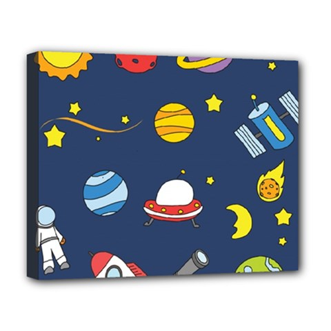 Space Background Design Deluxe Canvas 20  X 16   by Simbadda