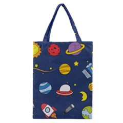 Space Background Design Classic Tote Bag by Simbadda