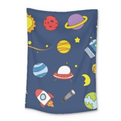 Space Background Design Small Tapestry by Simbadda