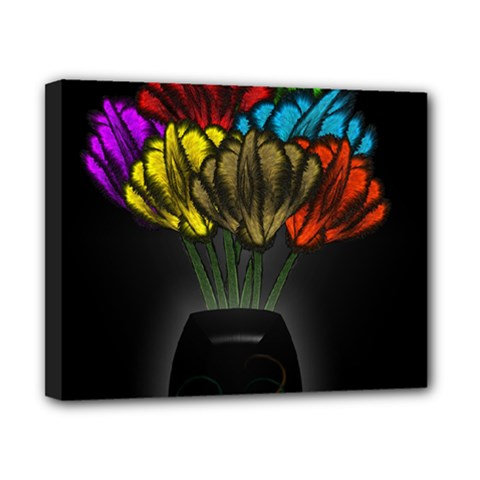 Flowers Painting Still Life Plant Canvas 10  X 8  by Simbadda