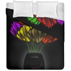 Flowers Painting Still Life Plant Duvet Cover Double Side (california King Size) by Simbadda