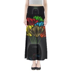 Flowers Painting Still Life Plant Maxi Skirts