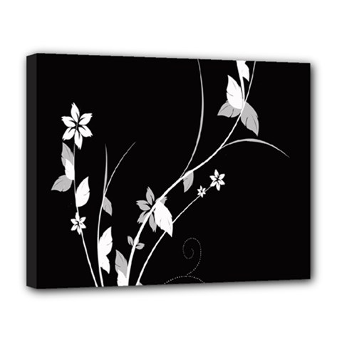 Plant Flora Flowers Composition Canvas 14  X 11  by Simbadda