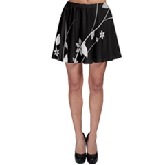 Plant Flora Flowers Composition Skater Skirt by Simbadda