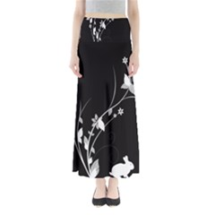 Plant Flora Flowers Composition Maxi Skirts