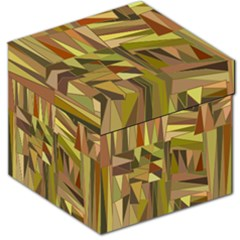 Earth Tones Geometric Shapes Unique Storage Stool 12