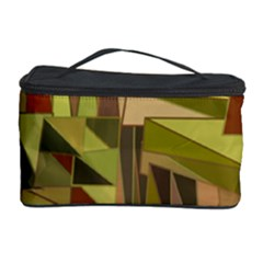 Earth Tones Geometric Shapes Unique Cosmetic Storage Case by Simbadda