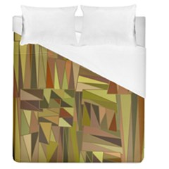 Earth Tones Geometric Shapes Unique Duvet Cover (queen Size) by Simbadda