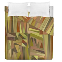 Earth Tones Geometric Shapes Unique Duvet Cover Double Side (queen Size) by Simbadda