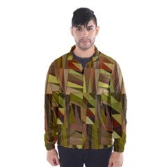 Earth Tones Geometric Shapes Unique Wind Breaker (men) by Simbadda
