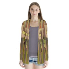 Earth Tones Geometric Shapes Unique Cardigans by Simbadda