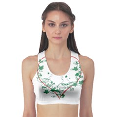 Heart Ranke Nature Romance Plant Sports Bra