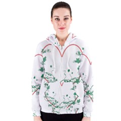 Heart Ranke Nature Romance Plant Women s Zipper Hoodie