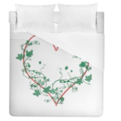 Heart Ranke Nature Romance Plant Duvet Cover (queen Size) by Simbadda