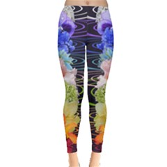 Chakra Spiritual Flower Energy Leggings  by Simbadda