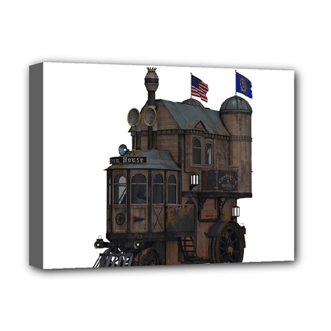 Steampunk Lock Fantasy Home Deluxe Canvas 16  X 12