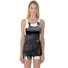 Steampunk Lock Fantasy Home One Piece Boyleg Swimsuit