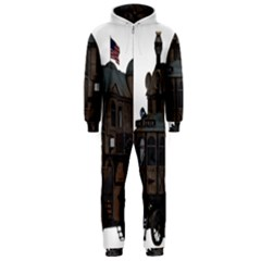 Steampunk Lock Fantasy Home Hooded Jumpsuit (men)