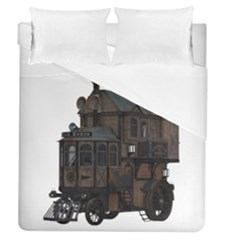 Steampunk Lock Fantasy Home Duvet Cover (queen Size) by Simbadda
