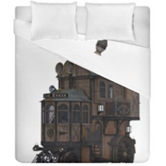 Steampunk Lock Fantasy Home Duvet Cover Double Side (california King Size) by Simbadda