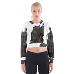 Steampunk Lock Fantasy Home Women s Cropped Sweatshirt