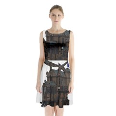 Steampunk Lock Fantasy Home Sleeveless Chiffon Waist Tie Dress by Simbadda